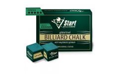 Мел Startbilliards 5 звезд зеленый (12 шт. качества 8А)