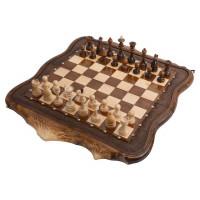 Шахматы + Нарды резные Арарат с бронзой 60 Ohanyan