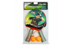 Набор теннисный ракетки Double Fish 2шт, мячи CK-301 3шт