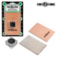 Губка для чистки и полировки кия Shaft Slicker и инструмент для обработки наклейки Cue Cube
