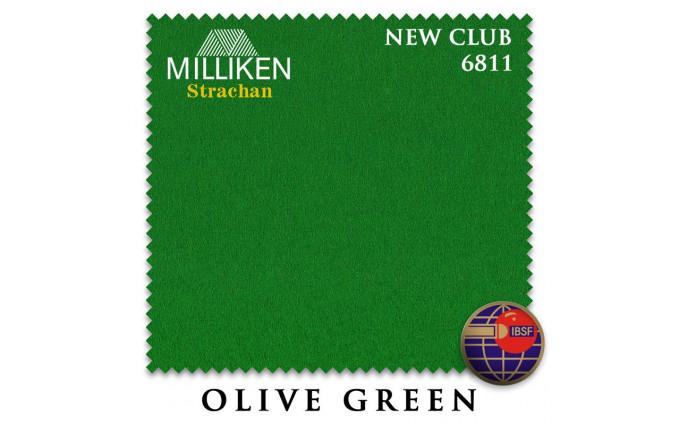 Сукно Milliken Strachan Snooker 6811 New Club 196см Olive Green