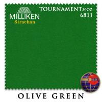 Сукно Milliken Strachan Snooker 6811 Tournament 30oz 193см Olive Green