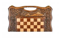 Шахматы + Нарды резные Арарат 2 40, Haleyan