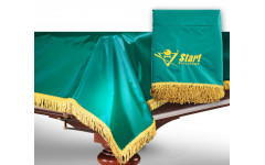 Чехол для б/стола 7-2 (зеленый с желтой бахромой, с логотипом)