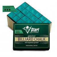 Мел Startbilliards 3 звезды зеленый (72шт)