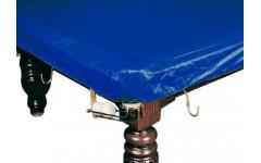 Покрывало для стола 8 ф (влагостойкое, темно-синее, резинки на лузах)