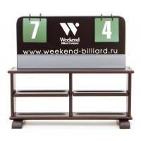 Комплект для турнира (табло + полка) русская пирамида