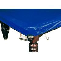 Покрывало для стола 9 ф (влагостойкое, темно-синее, резинки на лузах)