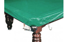 Покрывало для стола 10 ф (влагостойкое, зеленое, резинки на лузах)