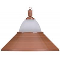 Лампа на один плафон «Jazz» (бронзовая чашка, бронзовый плафон D38см)